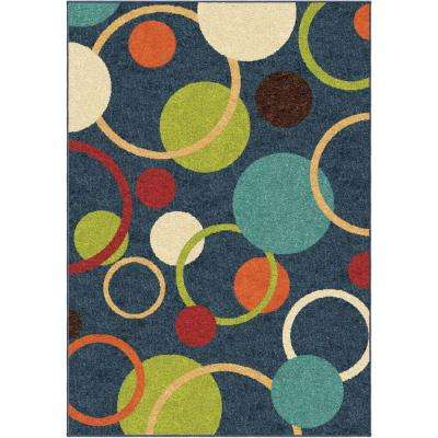 Gumdrop Blue 4 ft. x 5 ft. Indoor Area Rug
