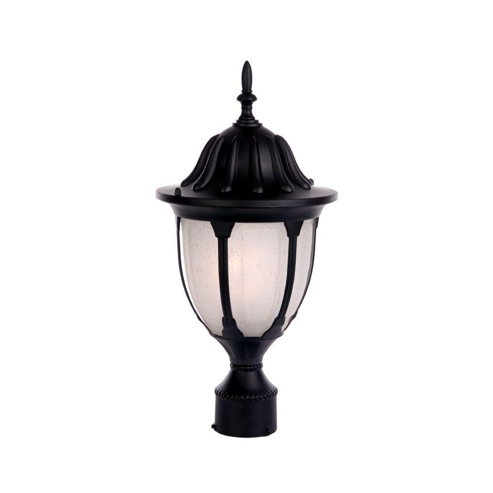 Outdoor Post Lights At Home Depot: Acclaim Lighting Suffolk 1-Light Matte Black Outdoor Post
