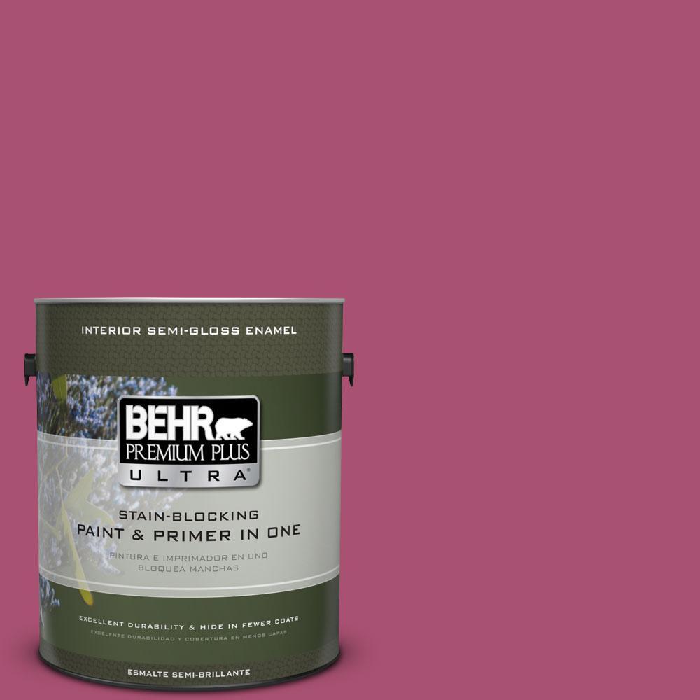 BEHR Premium Plus Ultra 1-gal. #110B-6 Cran Brook Semi-Gloss Enamel Interior Paint