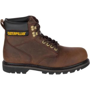 MENS BROWN LEATHER SIZE 3 4 5 6 7 8 9 10 11 12 13 14 SAFETY TOE CAP DEALER BOOTS