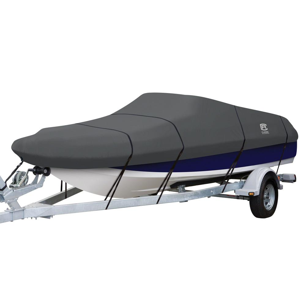 Classic Accessories StormPro 20 - 22 ft. Charcoal Grey Deck Boat Cover