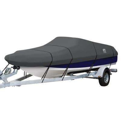 StormPro 20 - 22 ft. Charcoal Grey Deck Boat Cover