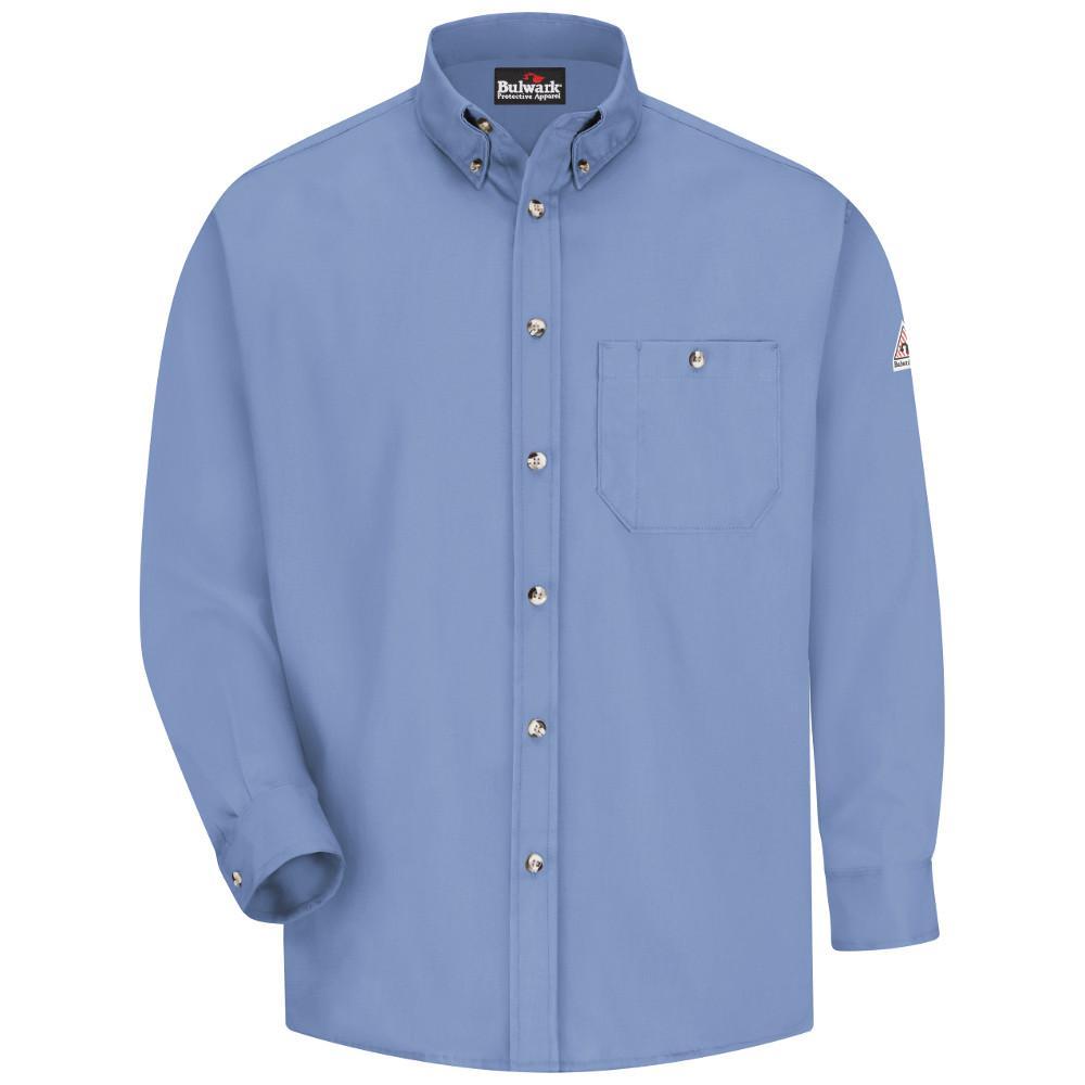 EXCEL FR Men's Large (Tall) Light Blue Dress Shirt