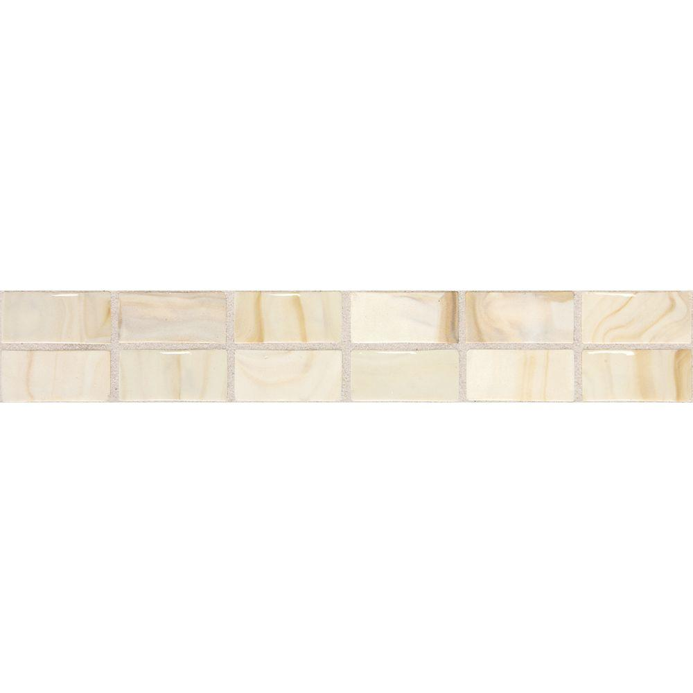 Daltile fashion accents beige swirl 2 in x 12 in ceramic daltile fashion accents beige swirl 2 in x 12 in ceramic decorative accent wall tile f002212deco1p the home depot dailygadgetfo Image collections