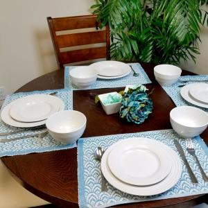 Gibson Plaza Cafe 12-Piece White Dinnerware Set-98599935M - The Home ...