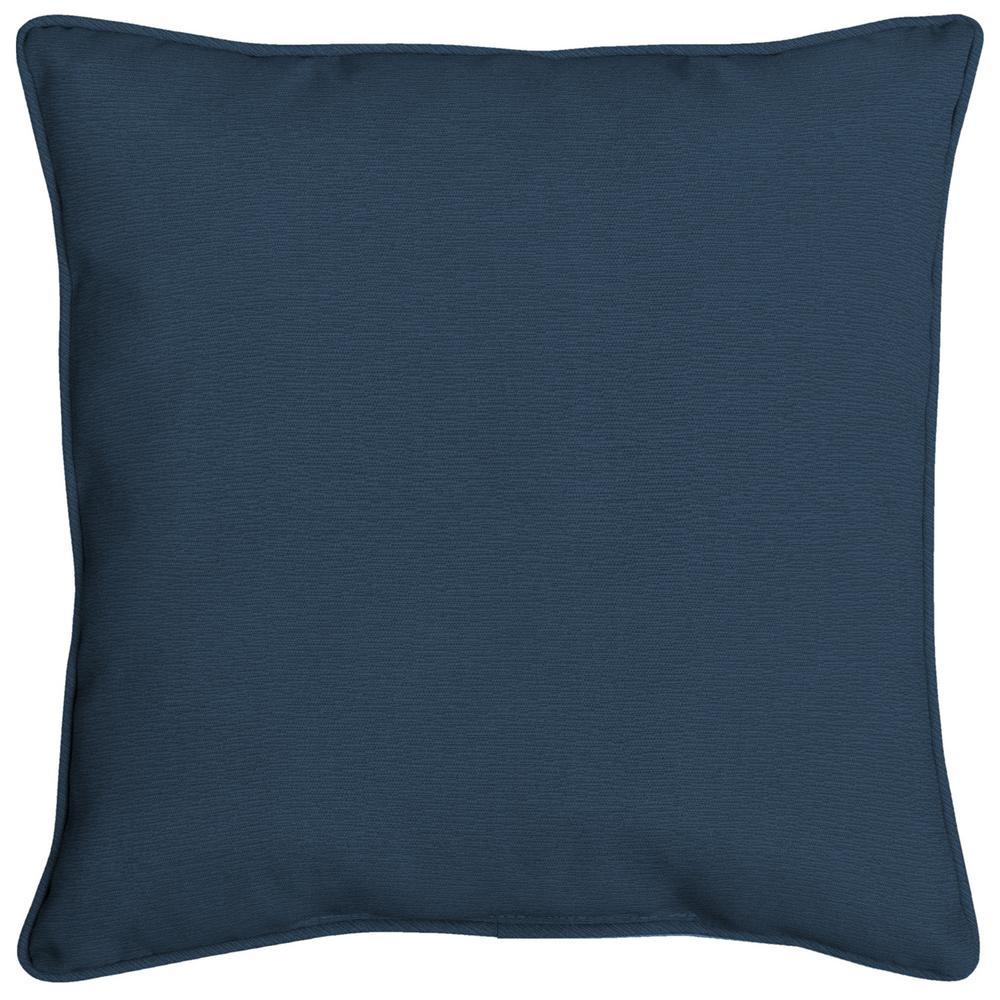 Acrylic 16 in. Indigo Linen Throw Pillow