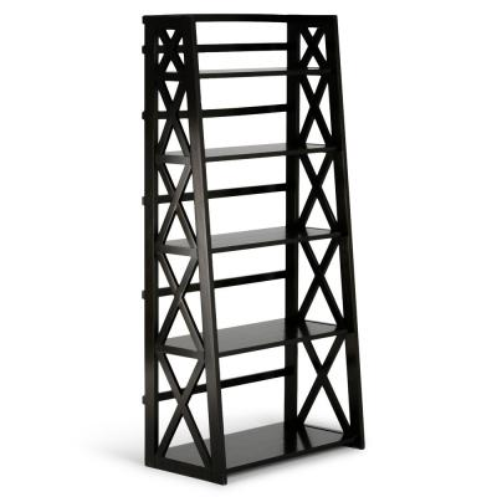 Simpli Home Kitchener Solid Wood Contemporary Ladder Shelf