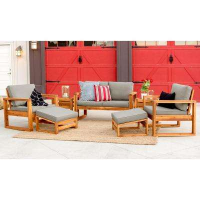 7 Piece Outdoor Clic Traditional Modern Contemporary Open Side Patio Chat Set