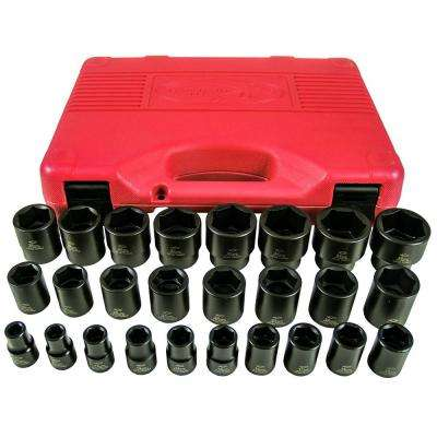 1/2 in. Drive Short Impact Socket Set (26-Piece)