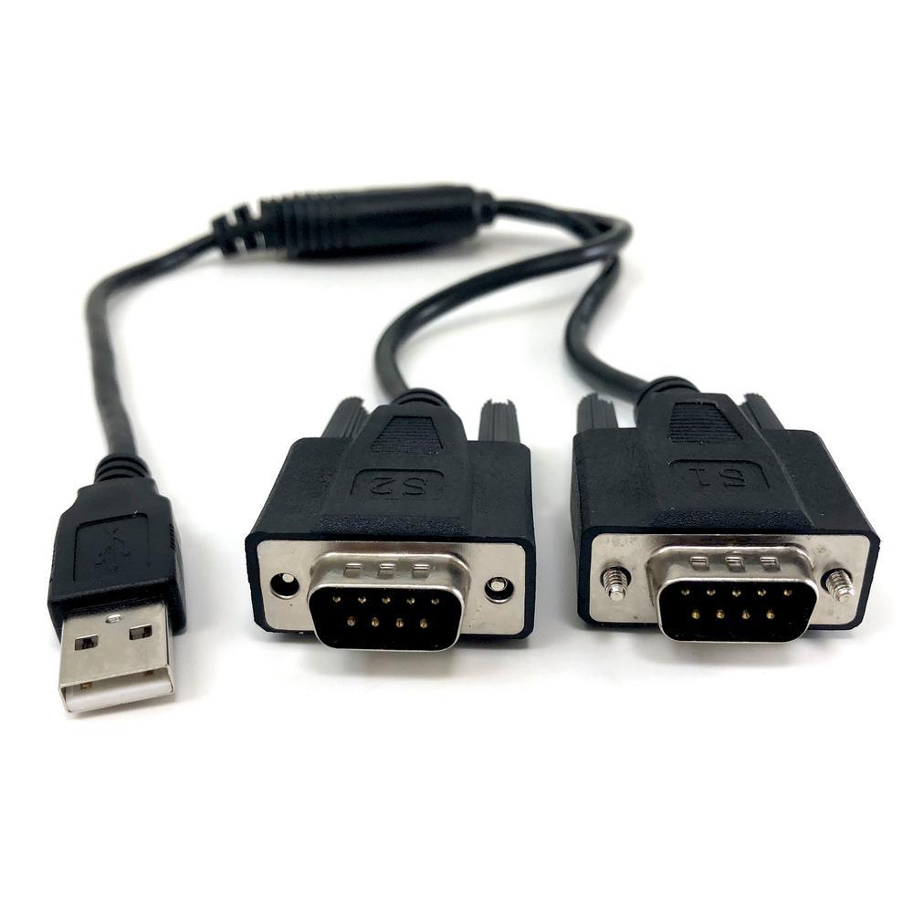USB to Dual Serial DB9 Adapter Windows 10/Win 8/7/XP/Vista/Mac