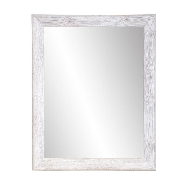 BrandtWorks Farmhouse Rectangle White Wall Mirror BM063L