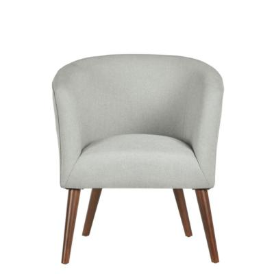Paxton Sable Brown Wood Accent Chair with Raindrop Blue Upholstery (27.56 in. W x 30.71 in. H)