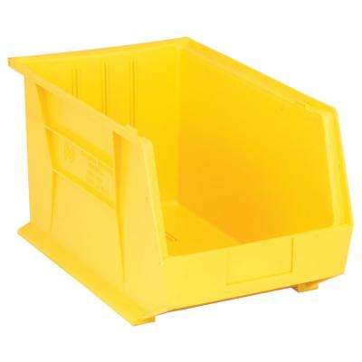 Ultra Series Stack and Hang 8.5 Gal. Storage Bin in Yellow (4-Pack)