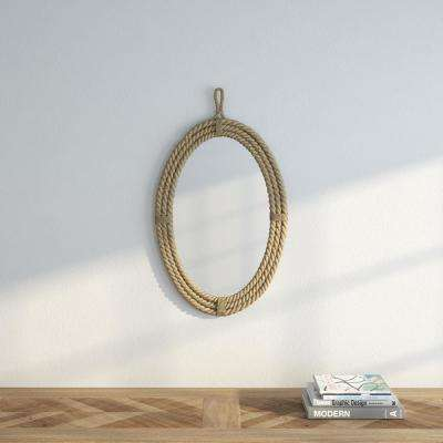 24.75 in. H x 16.50 in. W Oval Rope Wrapped Mirror