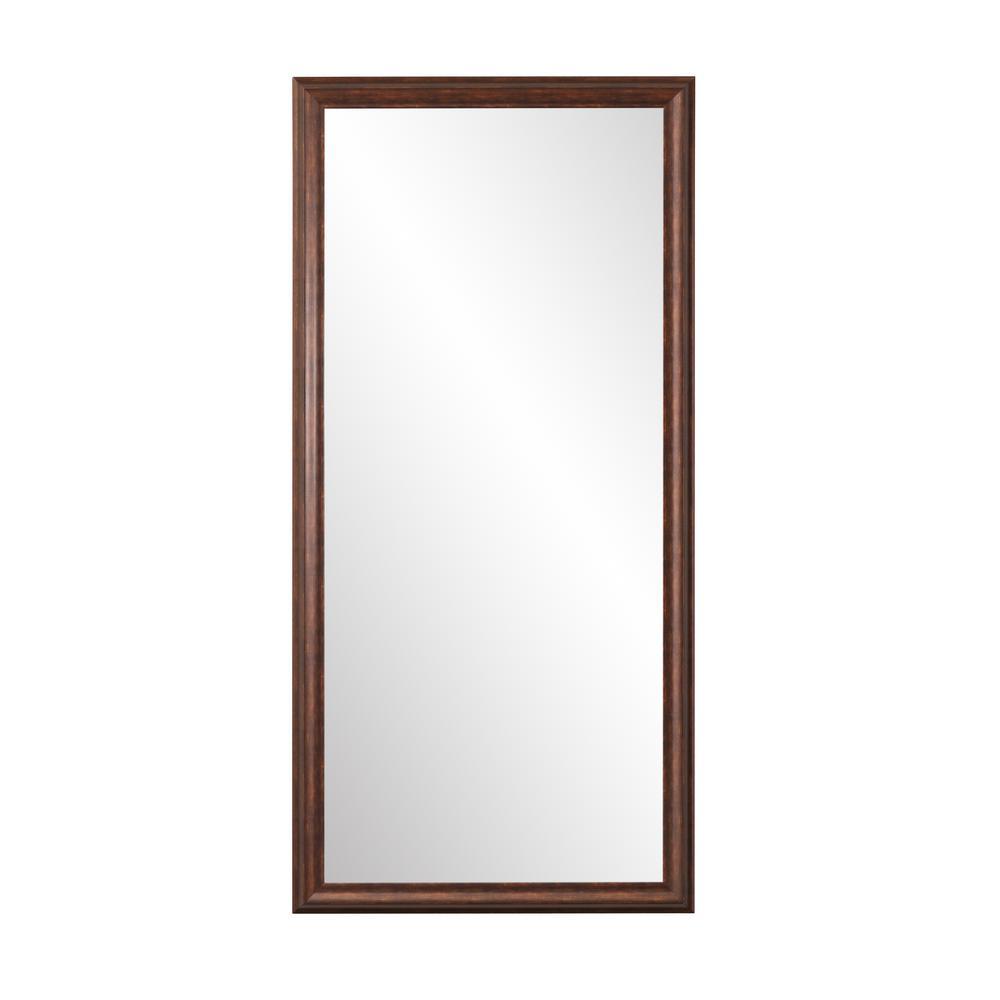 Oversized Dark Brown/Copper Mirror (70 in. H X 31 in. W)