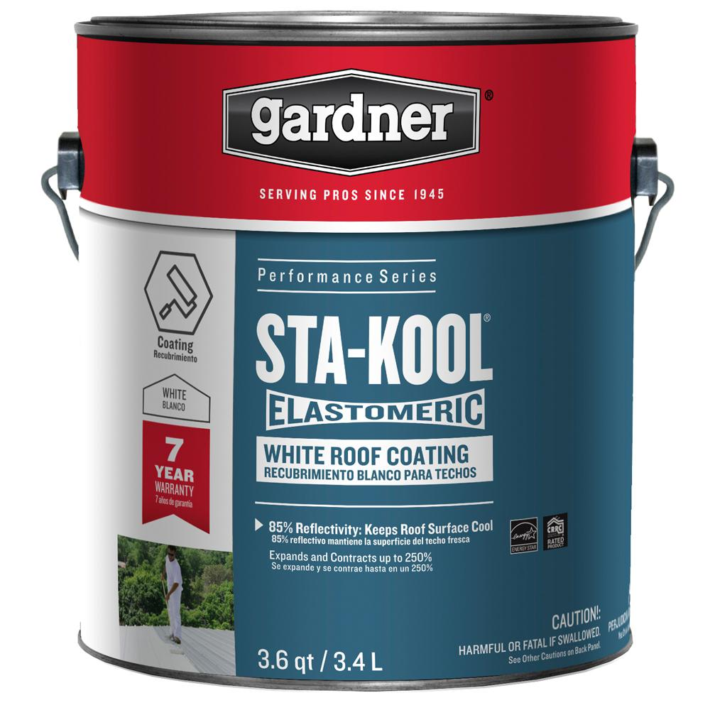 Awesome Gardner 3.6 Qt. Sta Kool Elastomeric White Roof Coating