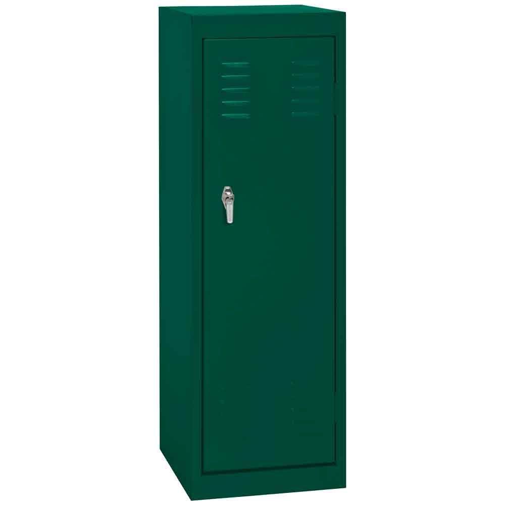 Sandusky 15 in. W x 15 in. D x 48 in. H Single Tier Welded Steel Locker in Forest Green