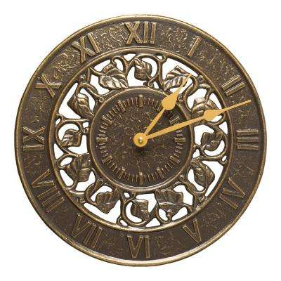 12 in. French Bronze Ivy Silhouette Wall Clock