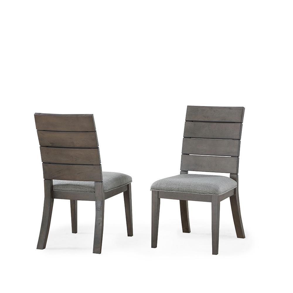 Elora Ladder Back Grey Side Chair  (set of 2)