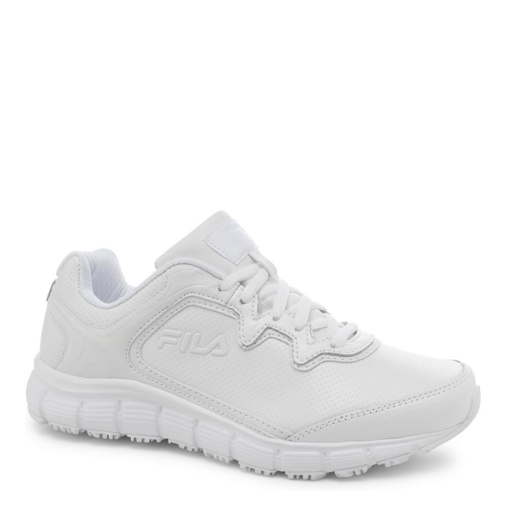 Memory Fresh Start Women Size 7.5 White Leather/Synthetic Soft Toe Work Shoe