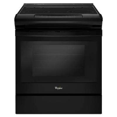 4.8 cu. ft. Single Oven Electric Range with Easy-Wipe Ceramic Glass Cooktop in Black