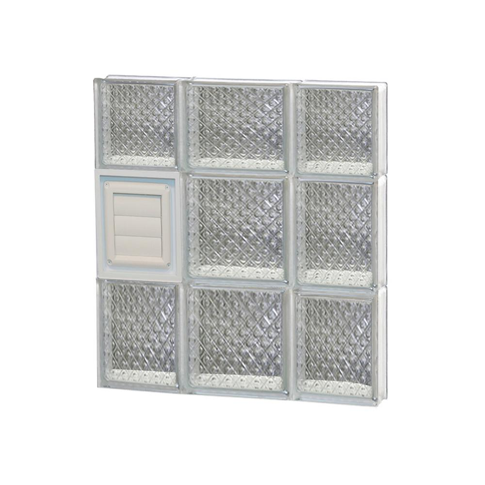 Clearly secure in x in x in frameless for Pre assembled glass block windows