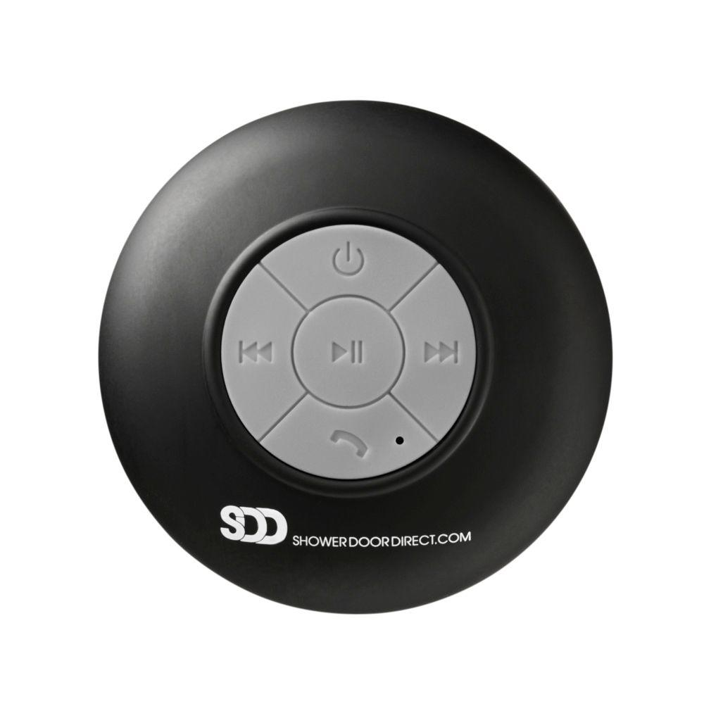 Waterproof Bluetooth Shower Speaker with Suction Cup in Black