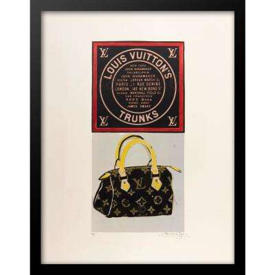"""30 in x 24 in"" ""Petite Speedy"" Vintage Louis Vuitton Ad by Fairchild Paris Framed Printed Wall Art"