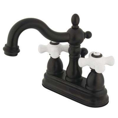 Victorian 4 in. Centerset 2-Handle Bathroom Faucet in Oil Rubbed Bronze