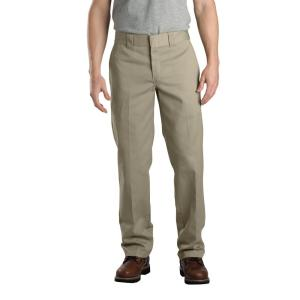 bright n colour agreatvarietyofmodels new concept Dickies Men's 36 in. x 32 in. Khaki Slim Fit Straight Leg Work Pant-WP873KH  36 32 - The Home Depot