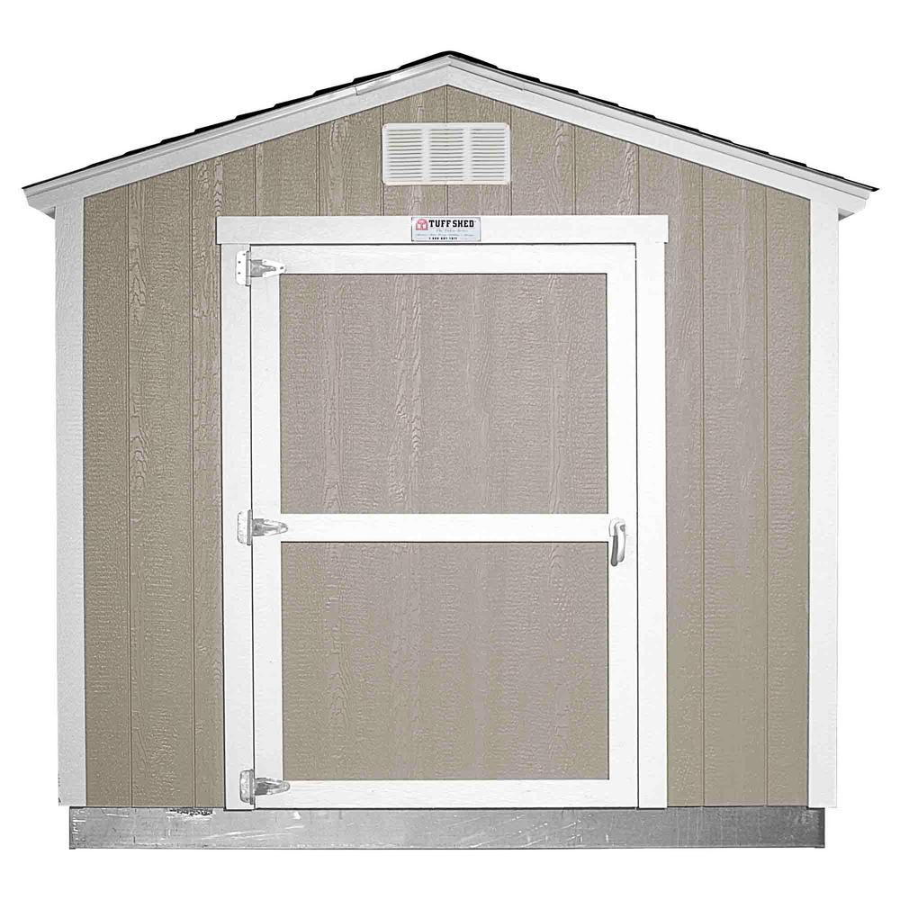 Tuff Shed Installed The Tahoe Series Tall Ranch 8 ft. x 10 ft. x 8 ft. 6 in. Painted Wood Storage Building Shed, Grays -  Tahoe 8x10 E