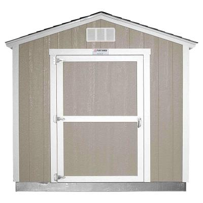Installed The Tahoe Series Tall Ranch 8 ft. x 10 ft. x 8 ft. 6 in. Painted Wood Storage Building Shed
