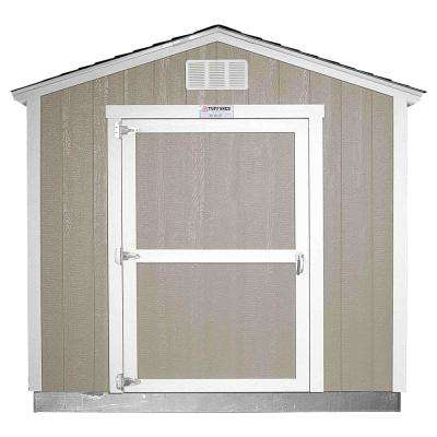 Installed Tahoe 8 ft. x 10 ft. x 8 ft. 6 in. Painted Wood Storage Building Shed with Shingles and Endwall Door
