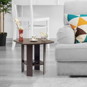 Furinno Simple Design Dark Brown End Table by Furinno