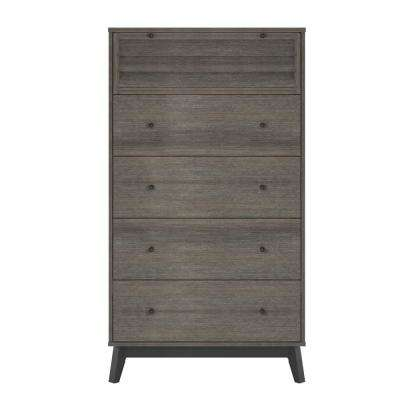 Gammon 5-Drawer Gray Oak  Dresser