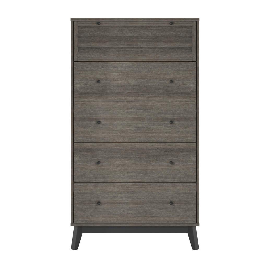 Ameriwood Gammon 5-Drawer Gray Oak Dresser HD79881