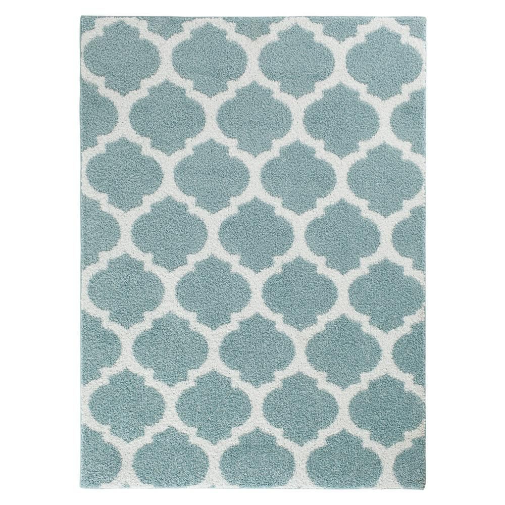 Seyward Angel Blue White 5 Ft X 7 Area Rug