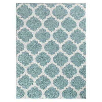 Seyward Angel Blue/White 5 ft. x 7 ft. Area Rug