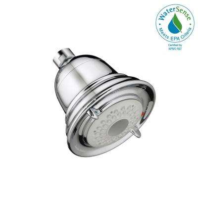 FloWise Traditional 3-Spray 4.5 in. Water Saving Showerhead in Polished Chrome