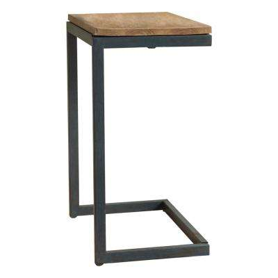 Brown and Gray Fir Wood Accent Table