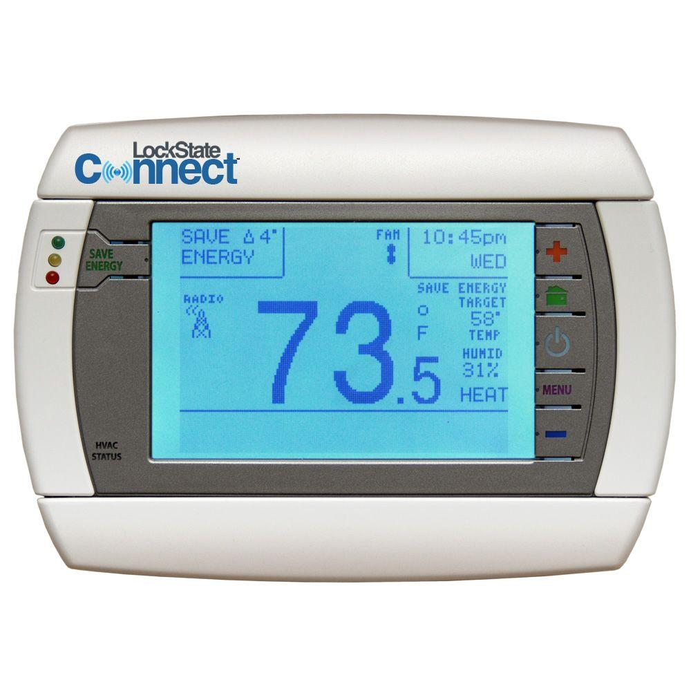 LockState 7-Day Digital Programmable Thermostat