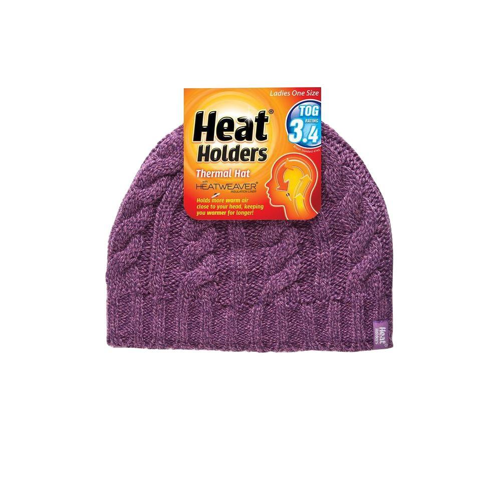 Heat Holders Women s Purple Thermal Hat-LHHH940PUR - The Home Depot e9f4ede251c
