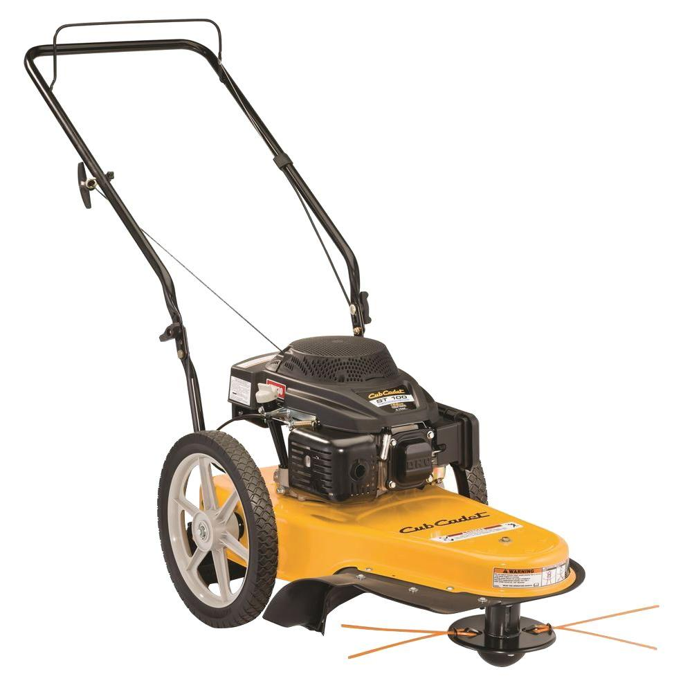 Cub Cadet 22 In 159cc Gas Walk Behind String Trimmer Mower St 100