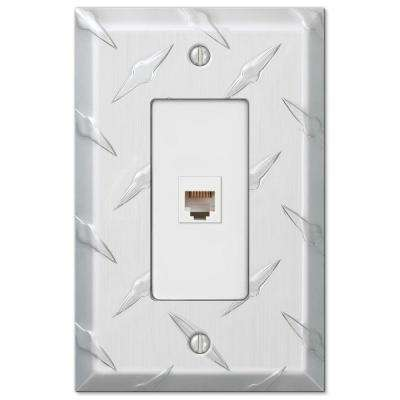 Diamond 1 Phone Wall Plate - Chrome