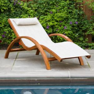 Leisure Season Sling Patio Lounge Chair Slc102 The Home Depot