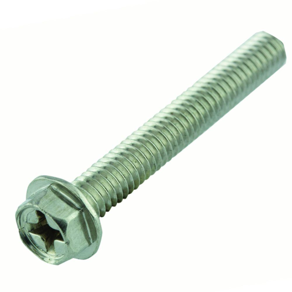 #8-32 x 1-1/4 in. Phillips Hex-Head Machine Screws (15-Pack)