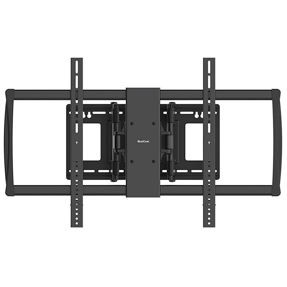 qualgear heavy duty full motion tv wall mount for 60 in 100 in flat panel and curved tvs. Black Bedroom Furniture Sets. Home Design Ideas