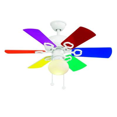 Minuet III 36 in. Indoor White Ceiling Fan with Light Kit