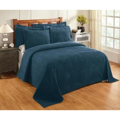 Julian 120 in. x 110 in. Teal King Bedspread