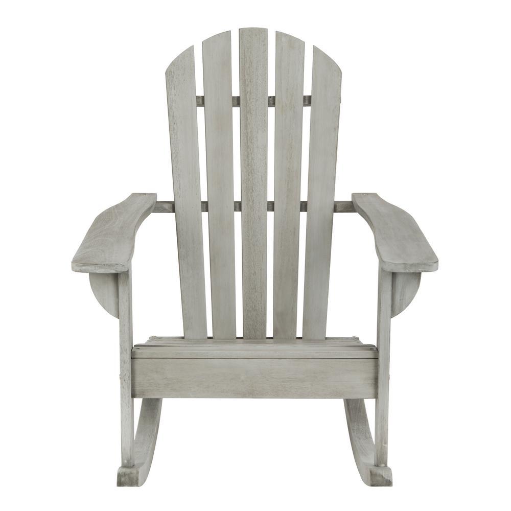Brizio Grey Wash Wood Outdoor Rocking Chair